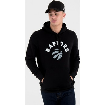 New Era Pullover Hoodie Kapuzenpullover Toronto Raptors NBA Sweatshirt schwarz