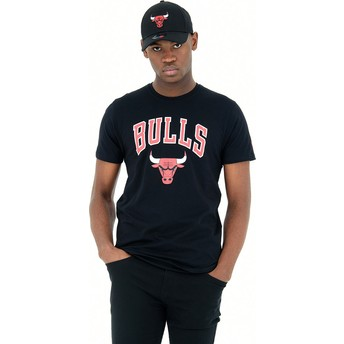 New Era Chicago Bulls NBA T-Shirt schwarz
