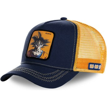 Casquette trucker bleue marine et orange Son Goku GOK Dragon Ball Capslab