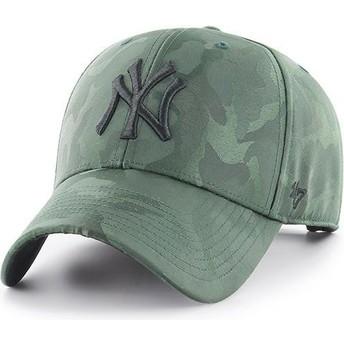 47 Brand Curved Brim New York Yankees MLB Clean Up Jigsaw Cap camo grün