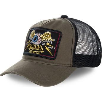 Cappellino trucker marrone e nero TRUCK06 di Von Dutch