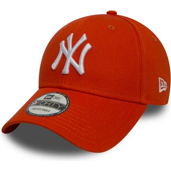 Casquette courbée orange ajustable 9FORTY Essential New York Yankees MLB New Era