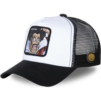 Casquette trucker blanche et noire Mr. Satan SAT1 Dragon Ball Capslab