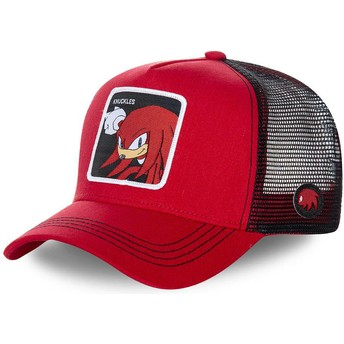 Casquette trucker rouge et noire Knuckles the Echidna KNU Sonic the Hedgehog Capslab