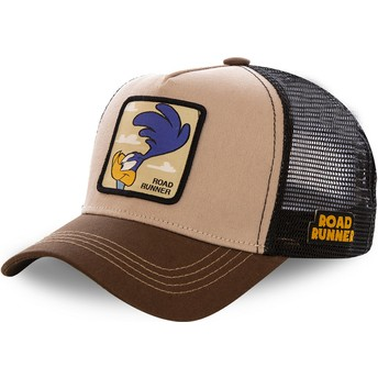 Cappellino trucker marrone Beep Beep ROA2 Looney Tunes di Capslab