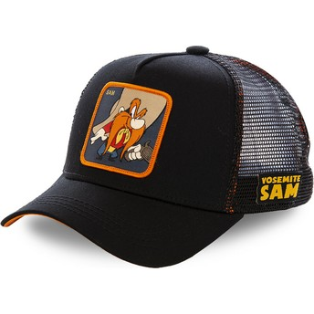 Capslab Yosemite Sam SAM1 Looney Tunes Trucker Cap schwarz