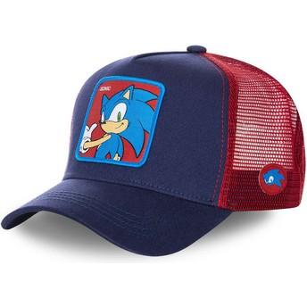 Casquette trucker bleue marine et rouge Sonic SO1 Sonic the Hedgehog Capslab