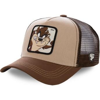 Capslab Tasmanischer Teufel TAZ2 Looney Tunes Trucker Cap braun
