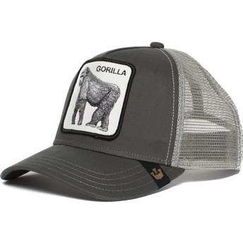 Cappellino trucker grigio gorilla King of the Jungle di Goorin Bros.