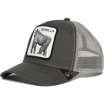 Casquette trucker grise gorille King of the Jungle Goorin Bros.