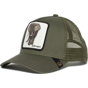 Casquette trucker verte éléphant Elephant Goorin Bros.