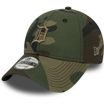 New Era Curved Brim Braunes Logo 9FORTY Essential de Detroit Tigers MLB Adjustable Cap camo