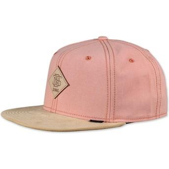 Djinns 6 Panel Melange Twill Snapback Cap pink