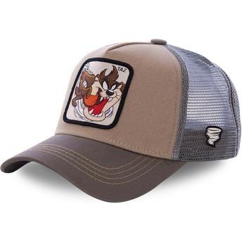 Capslab Tasmanischer Teufel TAZ3 Looney Tunes Trucker Cap braun