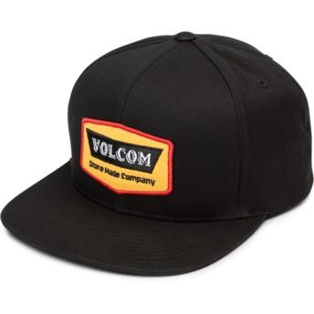 Volcom Flat Brim Yellow Cresticle Snapback Cap schwarz