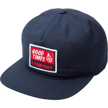 Volcom Flat Brim Indigo Righteous Snapback Cap marineblau