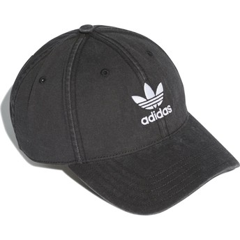 Casquette courbée noire ajustable Washed Adicolor Adidas