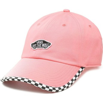 Vans Curved Brim Check It Adjustable Cap pink