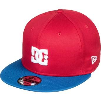 DC Shoes Flat Brim Empire Fielder Snapback Cap rot mit blauem Schirm