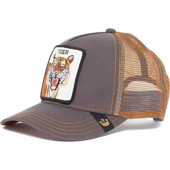 Cappellino trucker marrone tigre Eye of the Tiger di Goorin Bros.