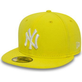 Casquette plate jaune ajustée 59FIFTY Essential New York Yankees MLB New Era