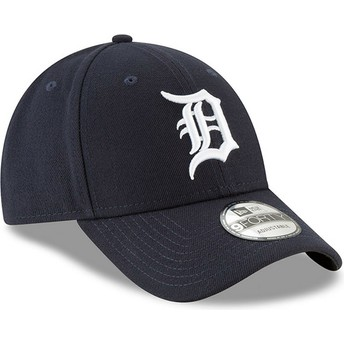 New Era Curved Brim 9FORTY The League Detroit Tigers MLB Adjustable Cap marineblau