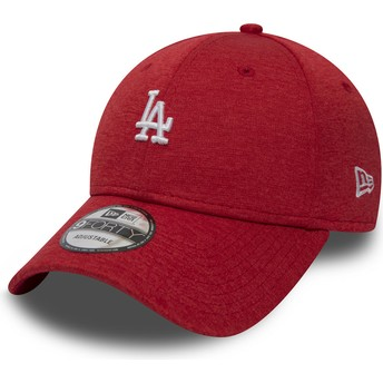 Casquette courbée rouge ajustable 9FORTY Shadow Tech Los Angeles Dodgers MLB New Era