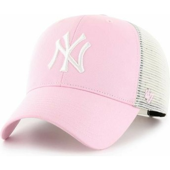 Casquette trucker rose claire MVP Flagship New York Yankees MLB 47 Brand