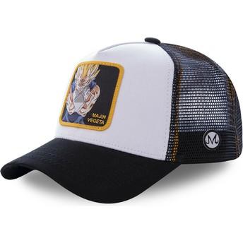 Capslab Majin Vegeta MV4 Dragon Ball Trucker Cap weiß und schwarz