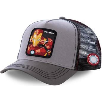 Capslab Iron Man IRO3 Marvel Comics Trucker Cap grau