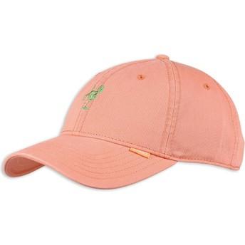 Djinns Curved Brim Washed Girl Adjustable Cap pink
