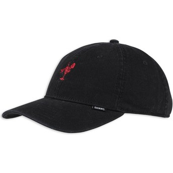 Djinns Curved Brim Washed Girl Adjustable Cap schwarz und rot