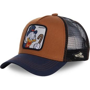 Casquette trucker marron et bleue marine Balthazar Picsou SCR1 Disney Capslab