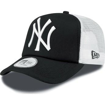 New Era Clean A Frame New York Yankees MLB Trucker Cap schwarz