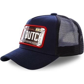 Casquette trucker bleue marine avec plaque California CAL2 Von Dutch