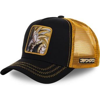 Capslab Gotenks Super Saiyan 3 GOT2 Dragon Ball Trucker Cap schwarz und gelb