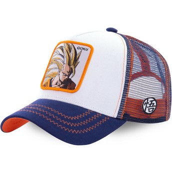 Capslab Son Goku Super Saiyan 3 SAN2 Dragon Ball Trucker Cap weiß