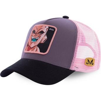 Capslab Dämon Boo BUU3 Dragon Ball Trucker Cap grau und pink