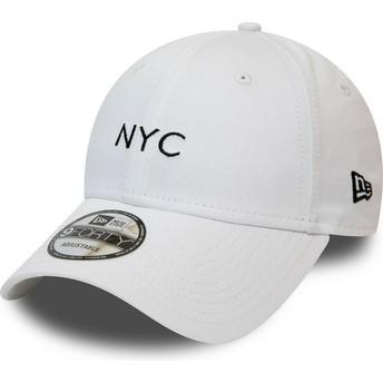 New Era Curved Brim 9FORTY Seasonal NYC Adjustable Cap weiß