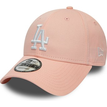 New Era Curved Brim 9FORTY League Essential Los Angeles Dodgers MLB Adjustable Cap pink