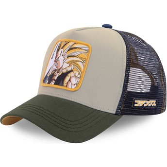 Casquette trucker grise et bleue marine Gotenks Super Saiyan 3 GOT1 Dragon Ball Capslab