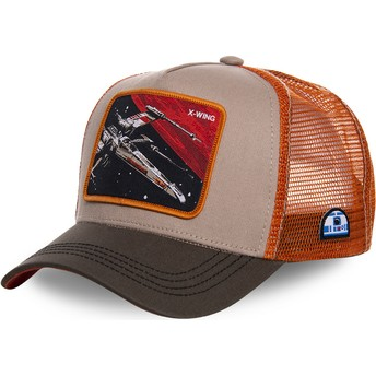 Capslab X-wing starfighter LTD5 Star Wars Trucker Cap grau und orange