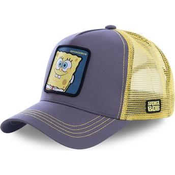 Capslab SpongeBob Schwammkopf SPO Trucker Cap grau und gelb