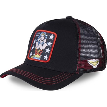 Capslab Wonder Woman WON2 DC Comics Trucker Cap schwarz