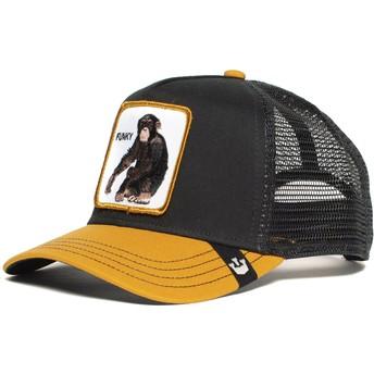 Cappellino trucker nero e giallo scimmia Banana Shake di Goorin Bros.