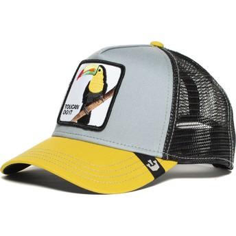 Cappellino trucker grigio e giallo tucano Iggy Narnar di Goorin Bros.