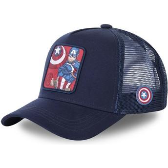 Casquette trucker bleue marine Captain America CPT1 Marvel Comics Capslab