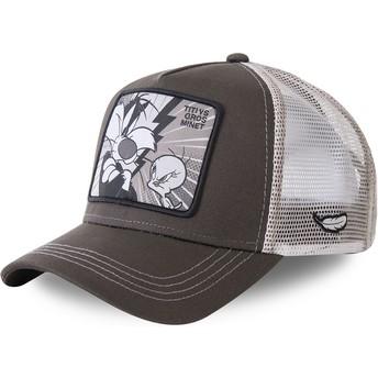 Capslab Sylvester Vs Tweety TVG2 Looney Tunes Trucker Cap braun