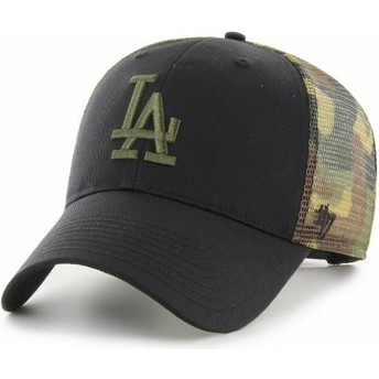 47 Brand MVP Back Switch Los Angeles Dodgers MLB Black and Camouflage Trucker Hat