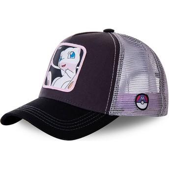 Capslab Mew MEW3 Pokémon Trucker Cap schwarz und weiß